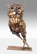 Bronze Sculpture of Owl by Maurice Harron. - Click to Enlarge