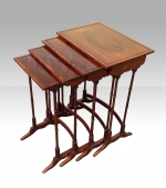 Antique Nest Of Four Inlaid Mahogany Tables - Click to Enlarge