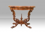 Antique Burr Walnut Games Table - Click to Enlarge