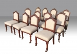 Harlequin set of 12 antique mahogany dining chairs - Click to Enlarge