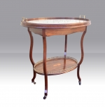 Antique Inlaid Rosewood Etagere Occasional Table - Click to Enlarge