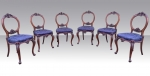 Set Of Six Antique Rosewood Dining Chairs - Click to Enlarge