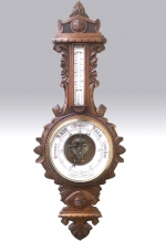 Large Antique Oak Barometer  - Click to Enlarge