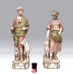 Large Pair Of Antique Royal Dux Figures - Click to Enlarge
