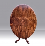Antique early Victorian oval rosewood centre pedestal loo table   - Click to Enlarge