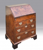 An early George I Walnut Antique Bureau of small proportions. - Click to Enlarge