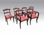 Set of Six Antique Regency Period Mahogany Dining Chairs. - Click to Enlarge