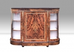 Antique Burr Walnut  Credenza Cabinet Sideboard. - Click to Enlarge