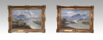 Pair of oil paintings by Francis E Jamieson - Click to Enlarge