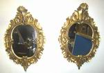Lovely Pair Of Early Victorian Gilt Rococo style Antique Mirrors - Click to Enlarge
