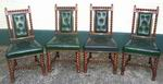 Quality set of four antique walnut chairs - Click to Enlarge