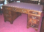Quality Georgian Style Mahogany Partners Desk c1900 - Click to Enlarge
