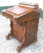 Victorian Burr Walnut Davenport - Click to Enlarge