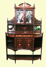 Fine Inlaid Marquetry Rosewood Antique  Chiffioneer - Click to Enlarge