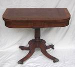 Quality Inlaid Rosewood Regency Turn Over Leaf Games Table - Click to Enlarge