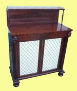 Quality Regency Antique Mahogany Chiffioneer Side Cabinet - Click to Enlarge
