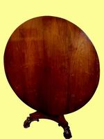 Quality William IV Rosewood Antique Circular Table - Click to Enlarge
