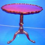 Fine Quality 19th Century Mahogany Antique Tri Pod  Table - Click to Enlarge