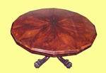 19th Century Segmented Rosewood 16 Sided Antique Center Table - Click to Enlarge