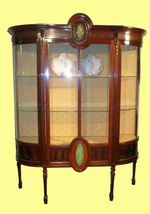 Superb Quality Mahogany Antique Display Cabinet - Click to Enlarge
